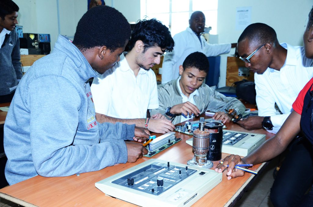 Students During their practical training in our facility